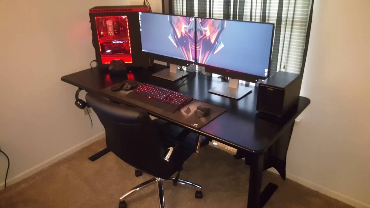 gaming pc desk the awesome adjustable smartdesk 2 standingdesktopper 29879