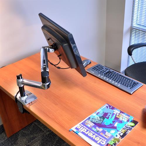 Bras LCD Ergotron LX pour bureau, grand poteau