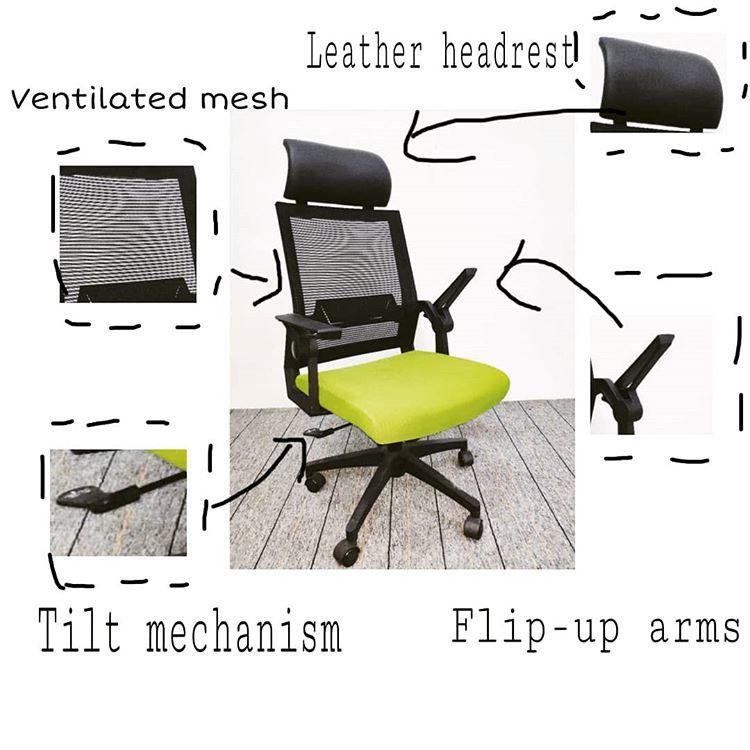 Tilt Controls with office ergonomic chair footrest