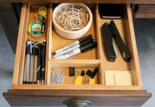 The Desk Drawer- How to Keep It Efficiently Organized At All Times