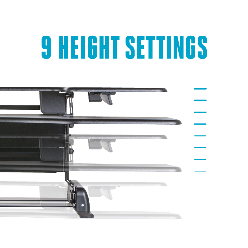 Height Adjustments VariDesk Pro Plus 48