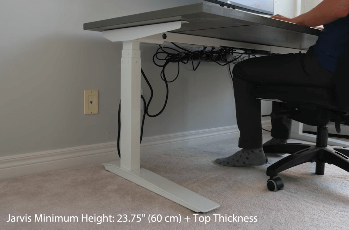 The standing desk Jarvis Minimum Height
