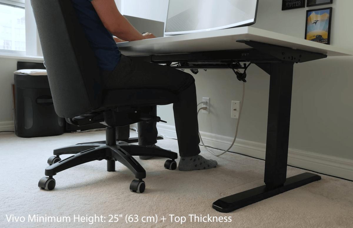 Vivo Minimum Height of the standing desk