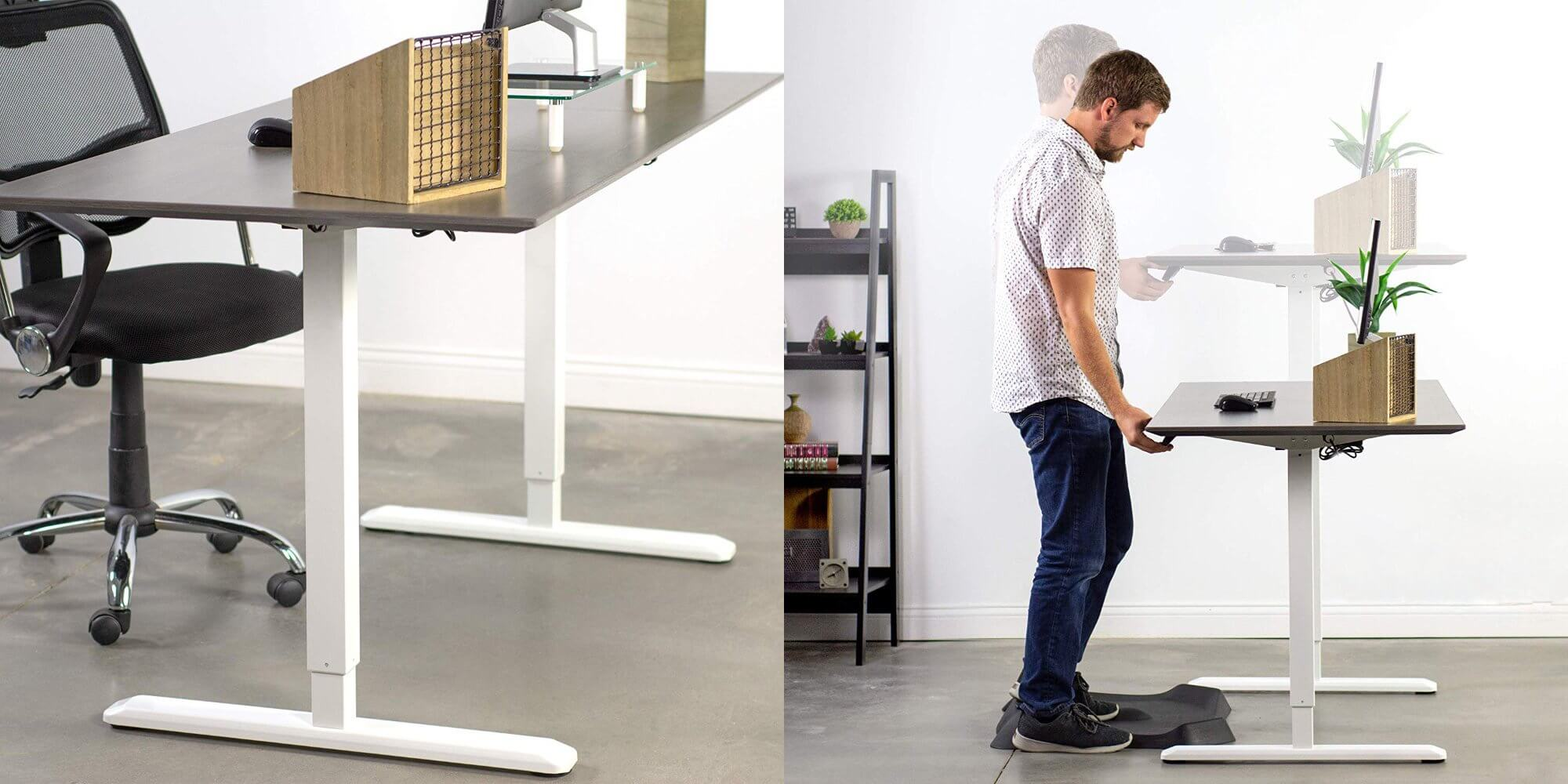 Best Electric Standing desk - VIVO Electric Desk 60 x 24
