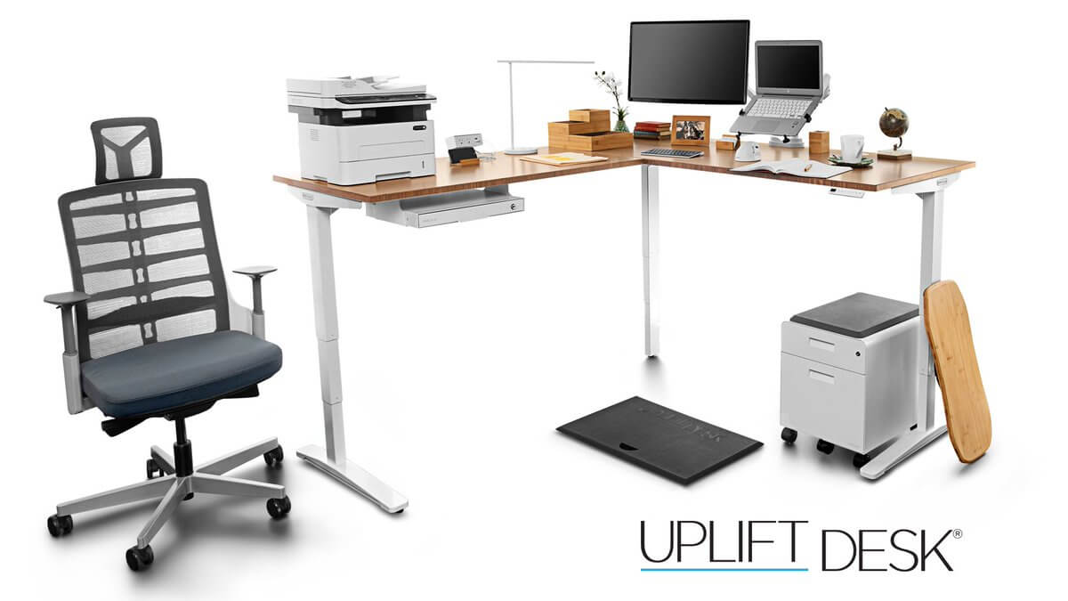 best UPLIFT V2 L-Shaped standing desk standingdesktopper