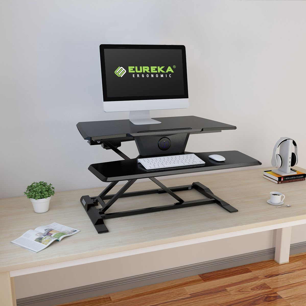 best standing desk converter with iMovR ZipLift+ Sit-Stand Converter