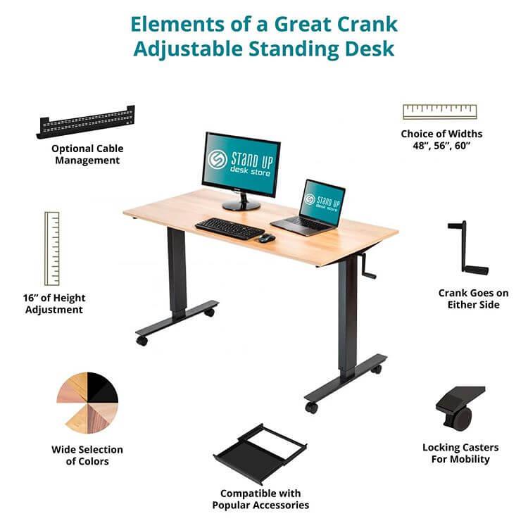Crank standing desk of standupdeskstore
