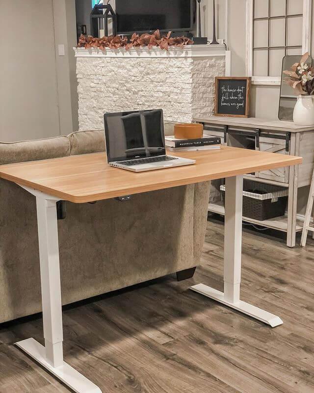 Flexispot electric standing desk wood version