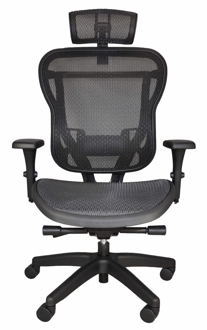 RIKA black mesh front headrest