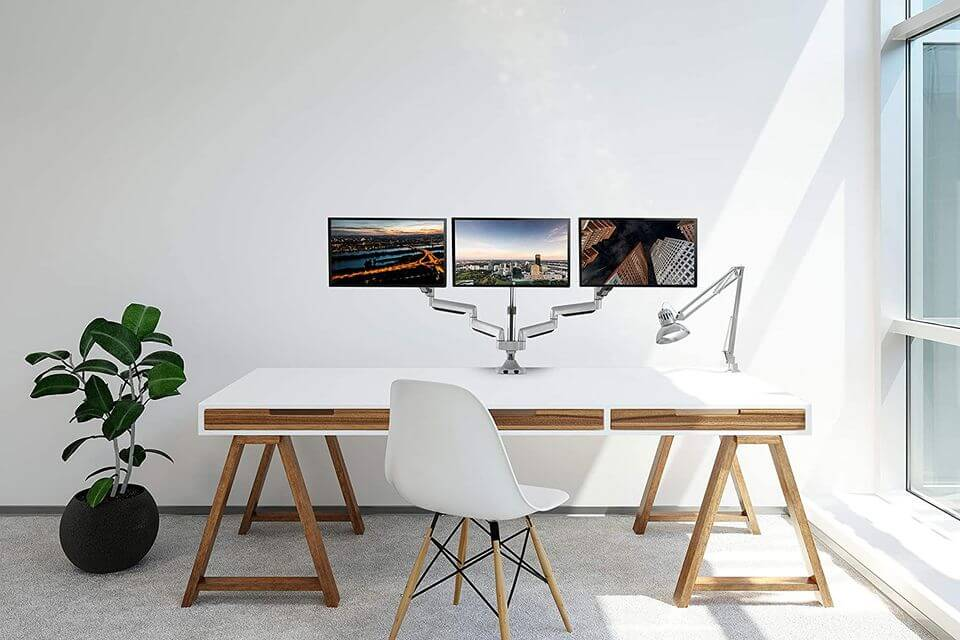 TechOrbits Triple Monitor Stand