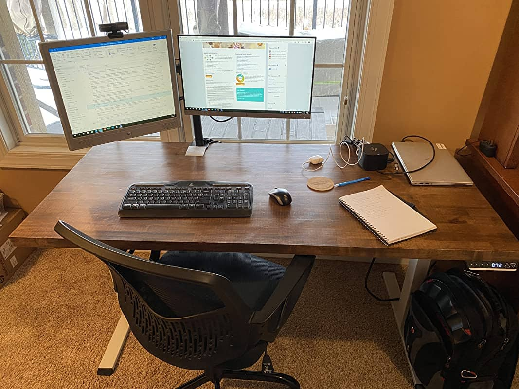 TOPSKY standing desk review about the frame only