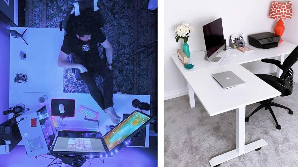 Two Desks Perpendicular is better?