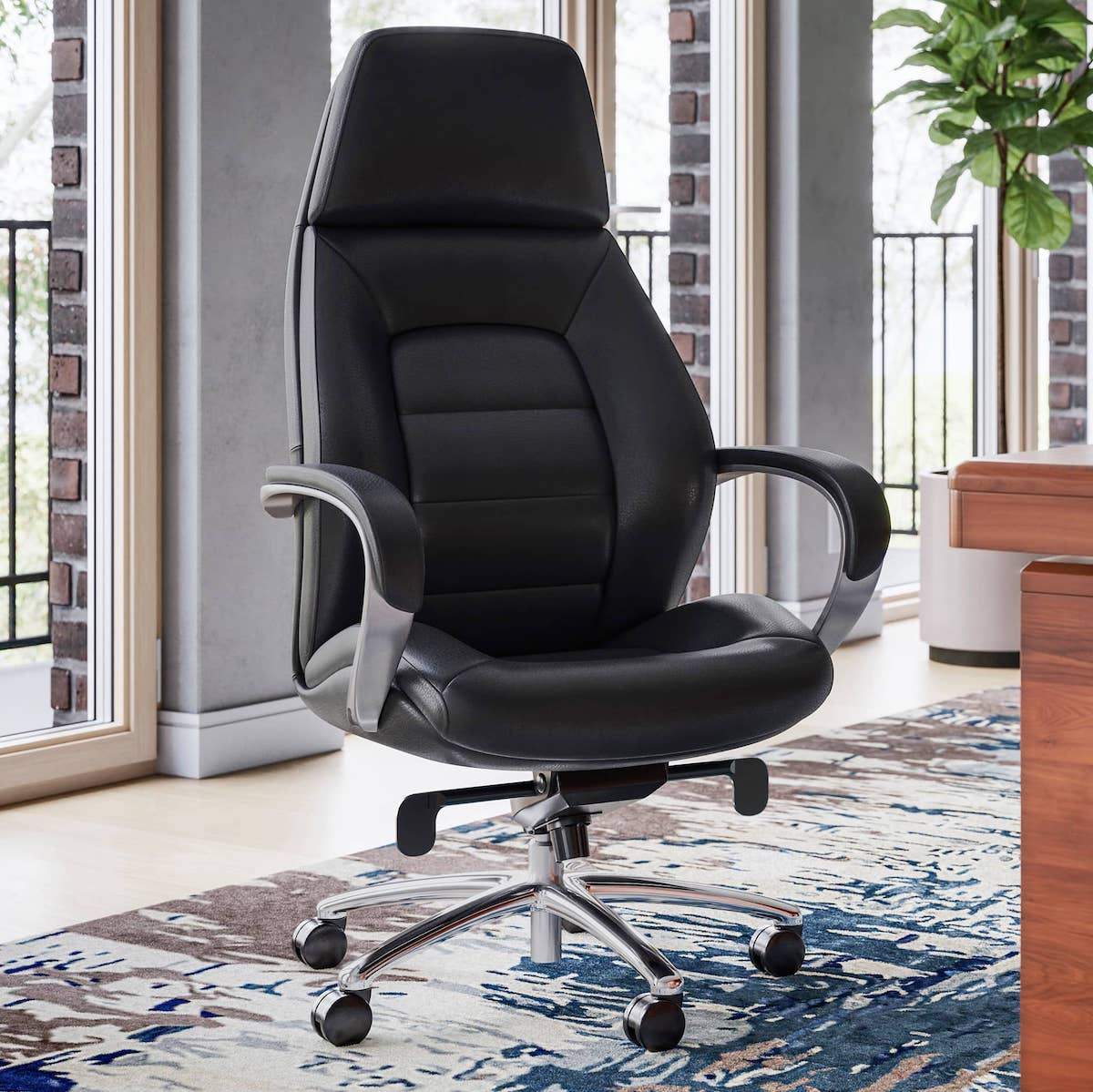 GATES LEATHER - a computer chair for long hours of sitting
