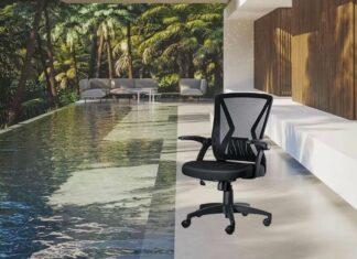KOLLIEE Mid Back Mesh Office Chair Ergonomic Swivel Black Mesh Computer Chair review