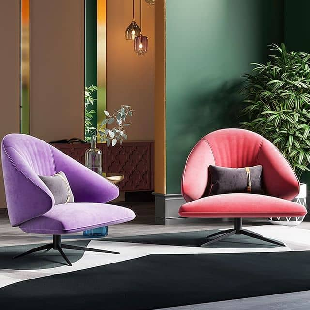 fabric chair with more color options